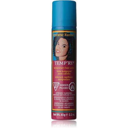 Jerome Russell Temporary Hair Color Spray, Blue 2.2 oz (Pack of 2) for $<!---->