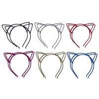 Lux Accessories Multicolor Glitter Trendy Cat Ear Headband Accessories 12PC Set