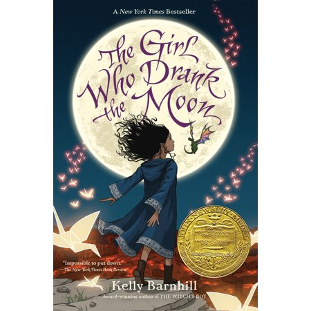 Girl Who Drank the Moon (Winner of the 2017 Newbery Medal) - Hardcover - Halloween Moon Phase 2017