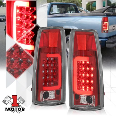Chrome Red Tron Led Bar C Neon Tail Light Lamp For 88 00 Chevy C10 Tahoe 89 90 91 92 93 94 95 96 97 98 99