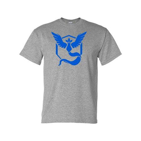 108b3e841 Custom Apparel R Us - Pokemon Go Gym Team Mystic Blue Mens Womens T-Shirt  Top - Walmart.com