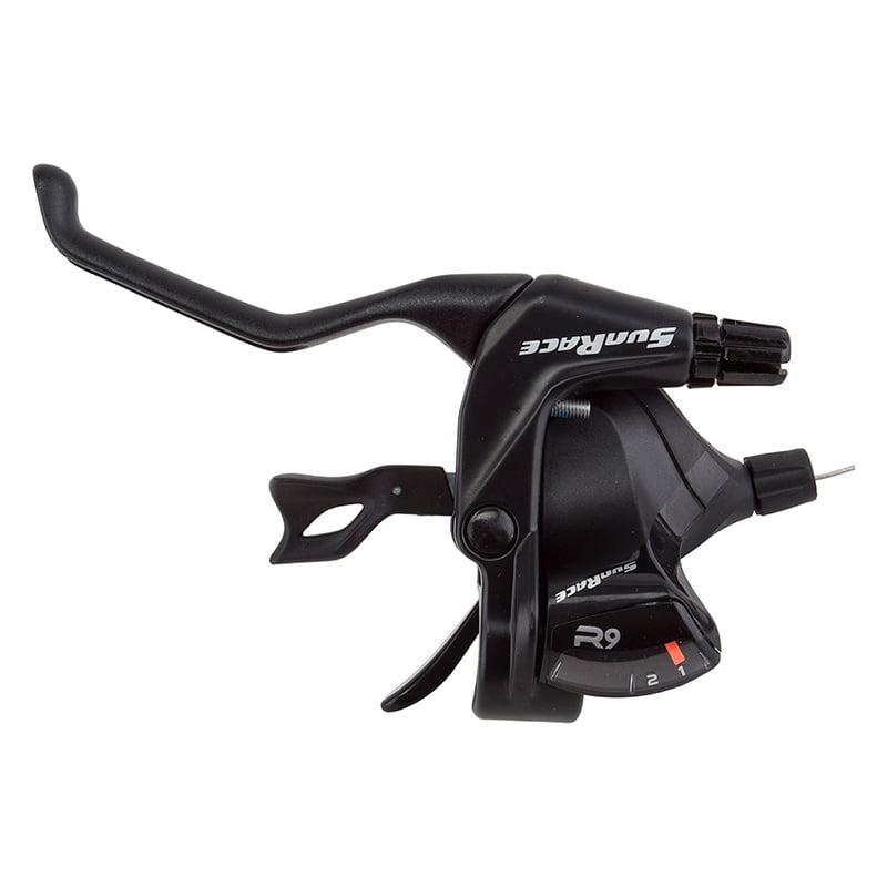 Sunrace ST-F930 Flat Bar V Brake/Trigger Shifter 2s Lh V Bk
