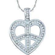 Gold and Diamonds PH2228-W 0.15CT-DIA HEART PENDANT- Size 7