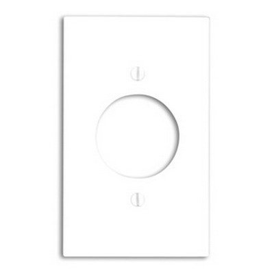 "Leviton 80720-W White Nylon Single Gang 1.60"" Single Receptacle Wall Plate"