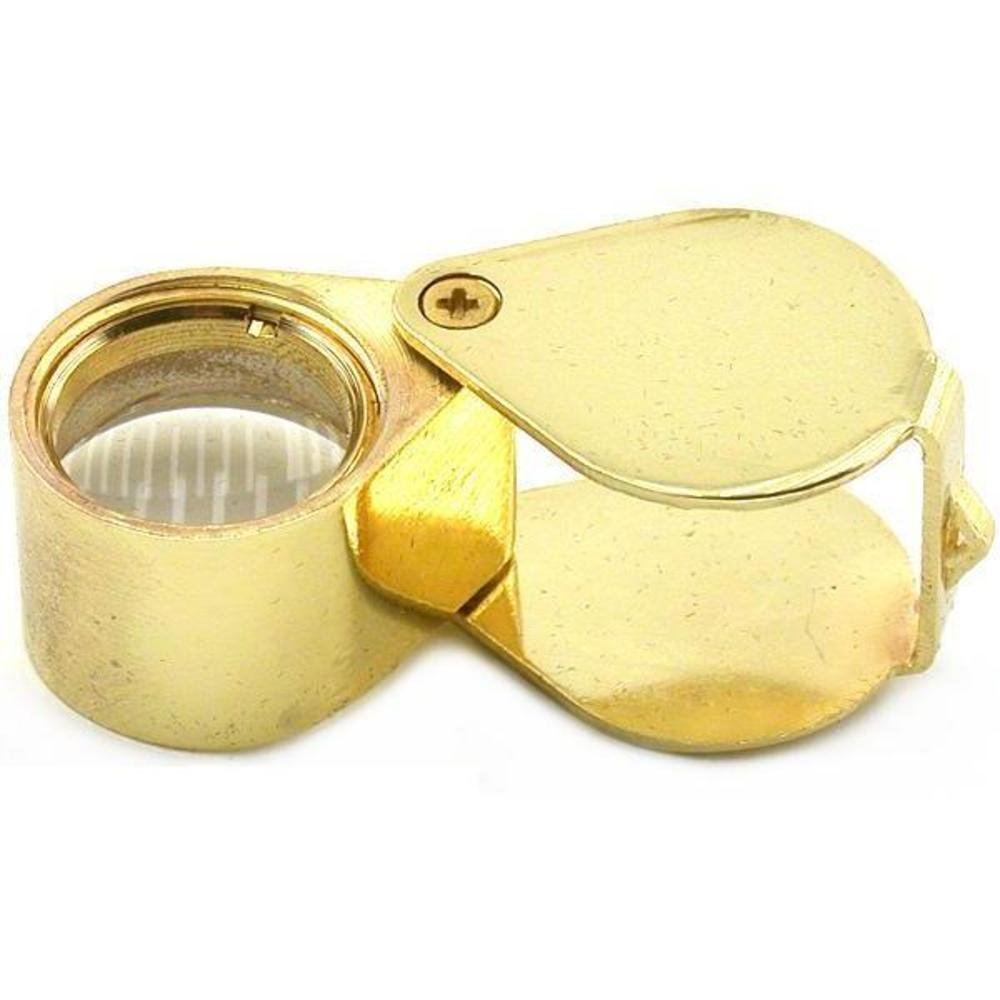10X Gold Eye Loupe Magnifier Jewelers Gem Optical Tool