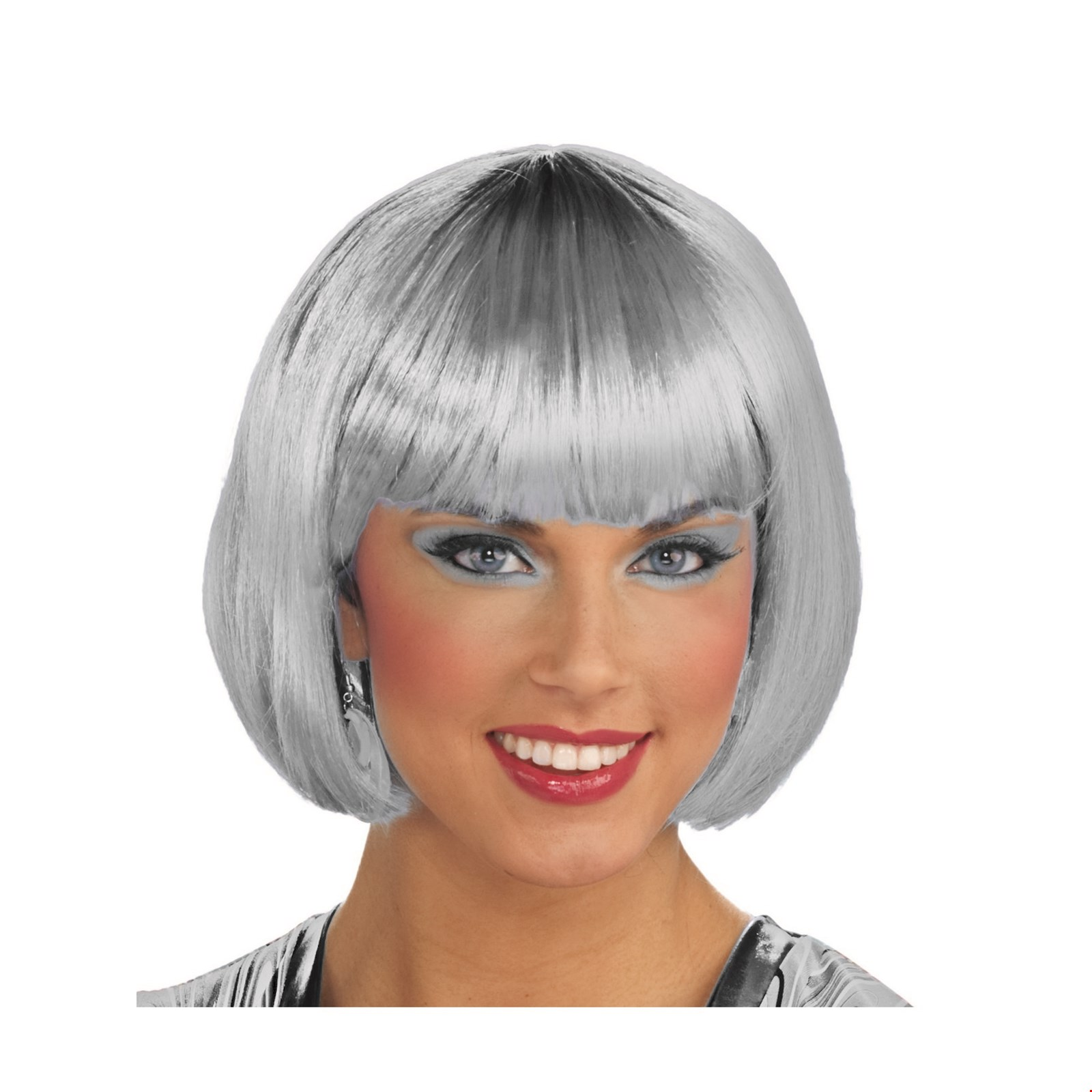 Silver Bob Wig Halloween Costume Accessory