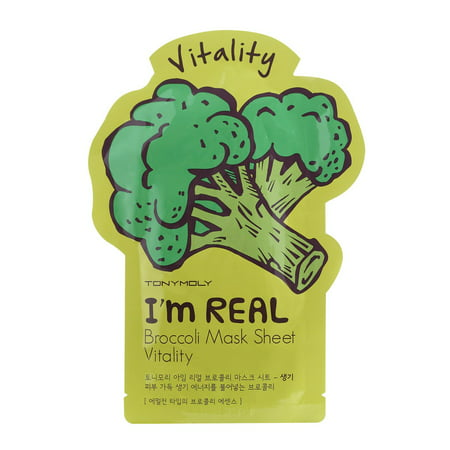 Tonymoly I'm Real Broccoli Face Mask Sheet - Vitality