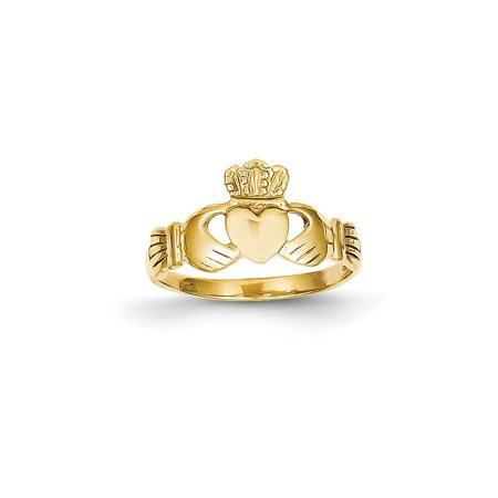 Solid 14k Yellow Gold Polished Ladie