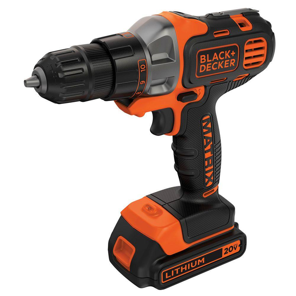 BLACK+DECKER BDCDMT120C 20V MAX MATRIX Lithium Cordless Drill