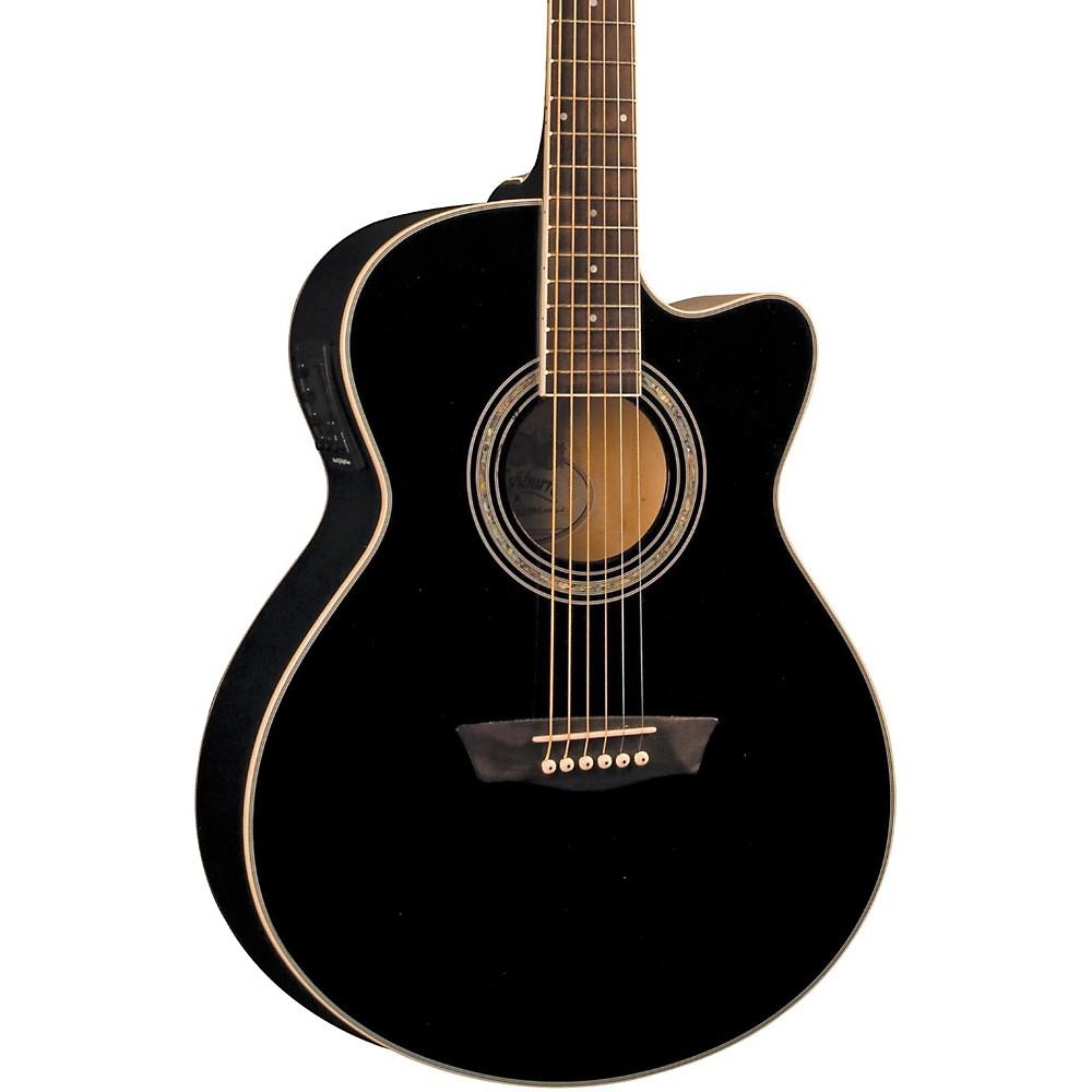 Washburn Festival EA12B Acoustic Electric Mini Jumbo Black ...
