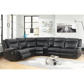 Cool Steve Silver Co Levin 4 Piece Upholstered Power Reclining Sectional Sofa Machost Co Dining Chair Design Ideas Machostcouk