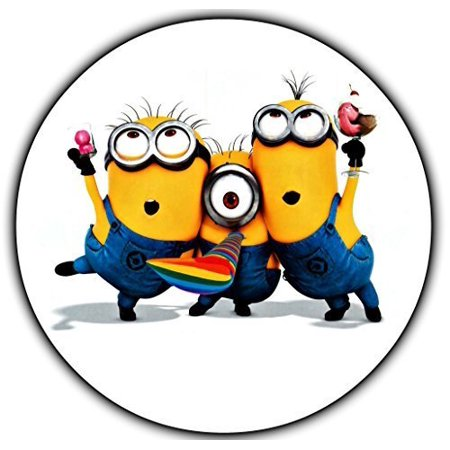 Minions Round Despicable Me Edible Frosting Image Cake Topper Sheet  - 8 Round* - Minions Cake Topper