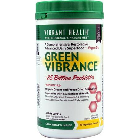 Vibrant Health Green Vibrance Superfood Powder, 12.8 - Vibrance Series