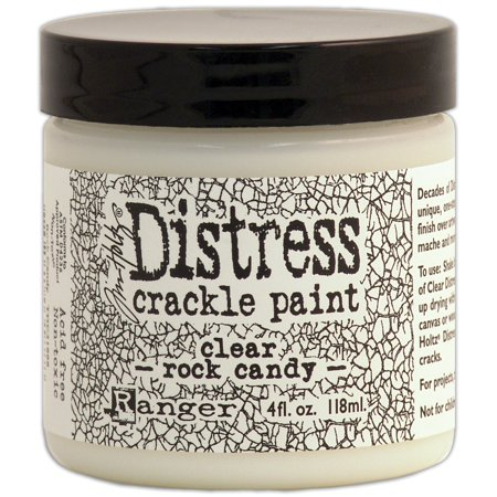 Tim Holtz Distress Crackle Paint 4 Oz Jar  Clear Rock Candy