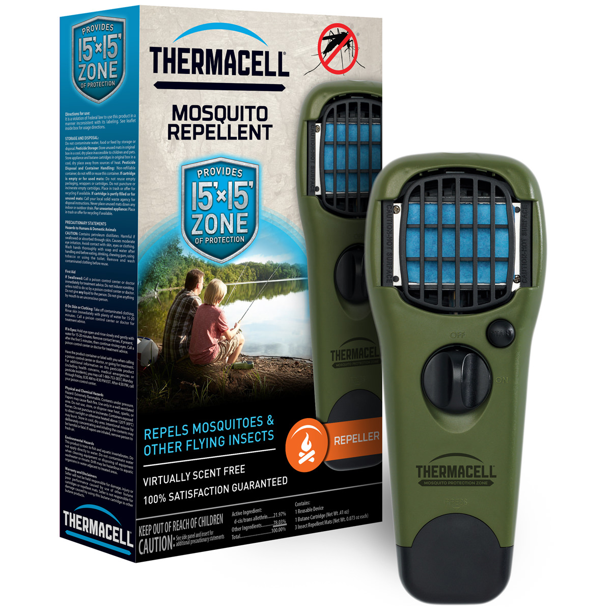 Thermacell Mosquito Repellent Portable Repeller, 12 Hour Protection