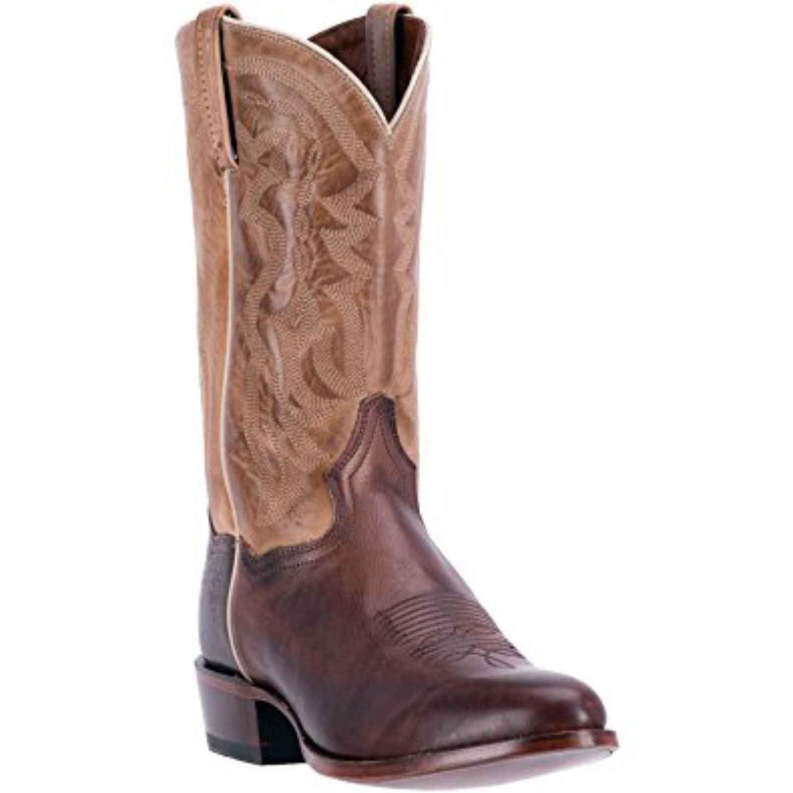 """Dan Post Men's 12"""" Leather Greer Western Chocolate Tan Boots, DP2177 by DAN POST"""