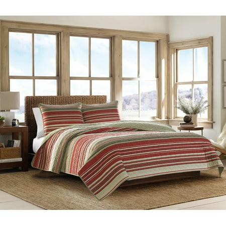 Eddie Bauer Yakima Valley Stripe Red Quilt Set, Full/Queen