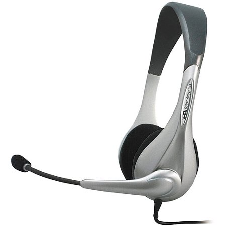 Cyber Acoustics Computer Stereo Silver Headset & Microphone