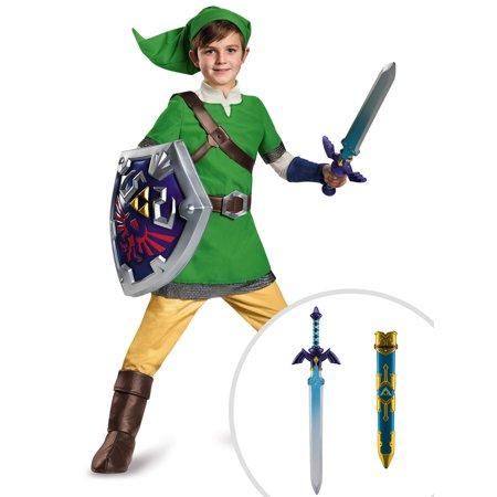 Legend Of Zelda Link Deluxe Costume for Kids and The Legend of Zelda: Link Master Sword