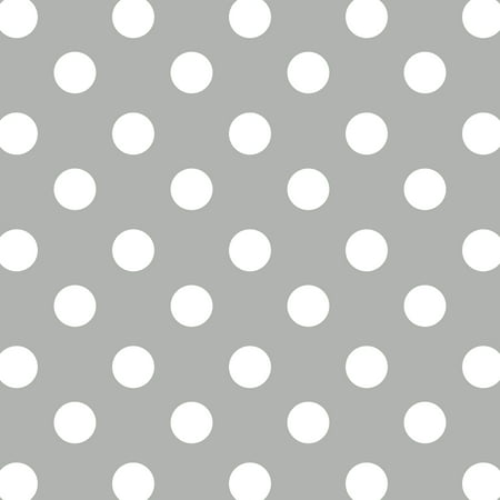 David Textiles Polka Dot Grey Anti-Pill Fleece 60