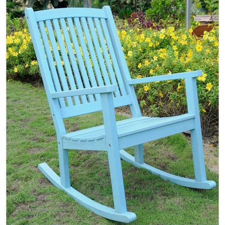 International Caravan Royal Fiji Large Porch Rocker in Sky Blue - image 1 de 1