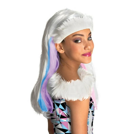 Monster High Abbey Bominable Child Halloween Costume Wig](Le Film De Monster High Halloween)