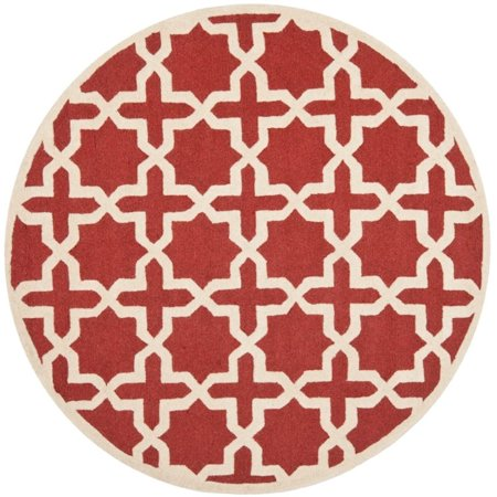 Safavieh Cambridge 4' X 6' Hand Tufted Wool Rug in Rust and Ivory - image 1 de 8