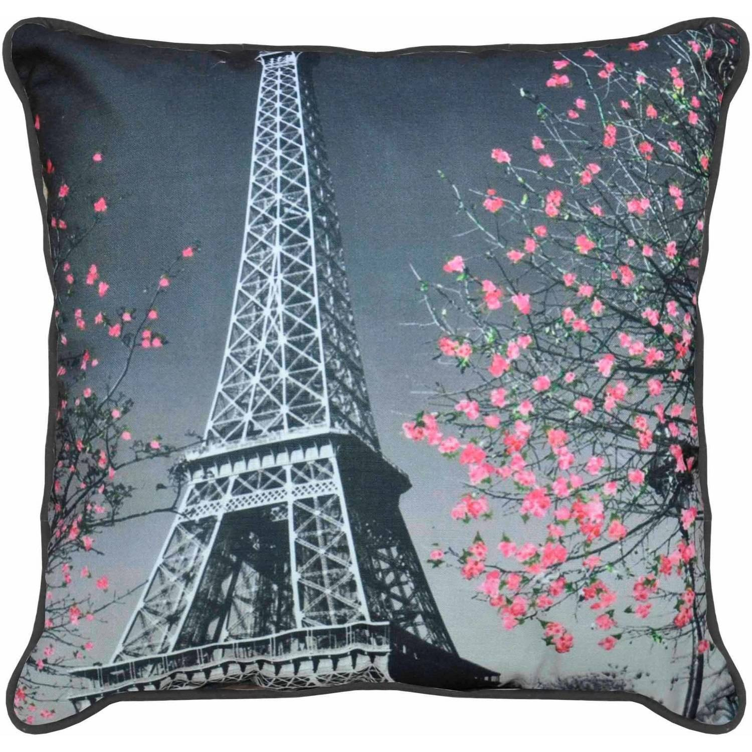 Formula Paris Printed Decorative Pillow, Black and White