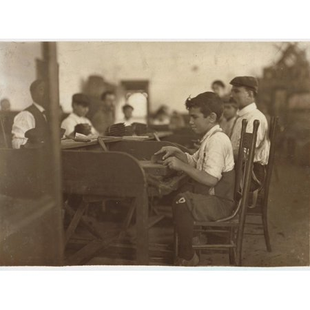 Child Apprentice at De Pedro Casellas Cigar Factory, Tampa, Florida, 1909 Print Wall Art By Lewis Wickes
