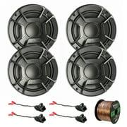 "4X Polk Audio DB6502 6.5"" 300W 2 Way Car/Marine ATV Stereo Component Speakers, 4X Metra 72-4568 Speaker Wire Harness for Select GM Vehicles, Enrock Audio 16-Gauge 50 Foot Speaker Wire"