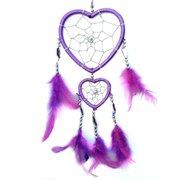 Purple Handmade Heart-shaped Dream Catcher car or Wall hanging decor