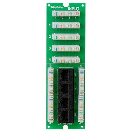 ON-Q Data Patch Panel - Mdu Combo 1x4 Phone/ 4 Port Cat5e Data Board (TM0404) ()
