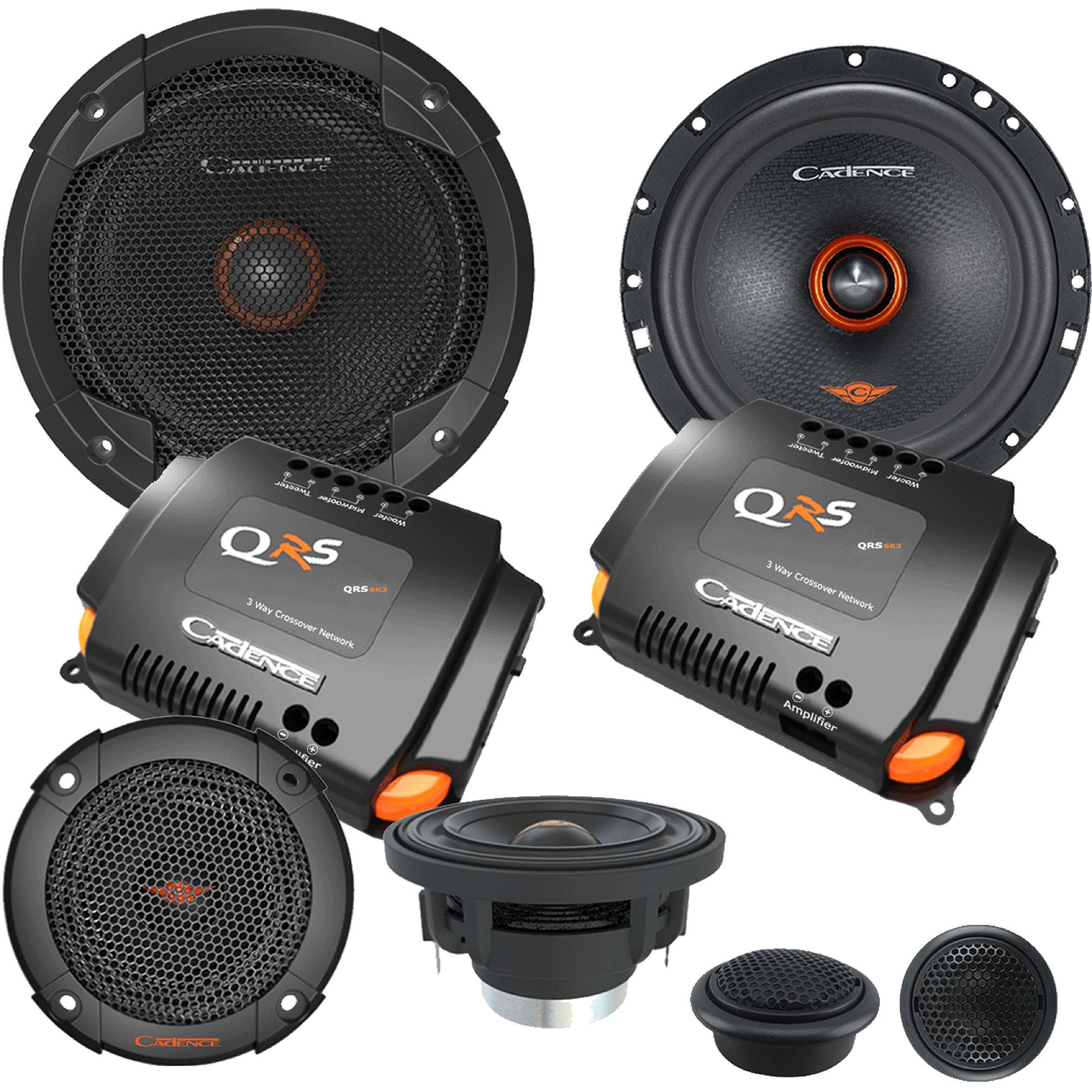"""Cadence 6"""" 3-Way Component 100W RMS Speakers"""
