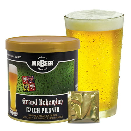 Mr. Beer Czech Pilsner Craft Beer Refill Kit, Contains Hopped Malt Extract Designed for Consistent, Simple and Efficient Homebrewing (Beer Tasting Kit)