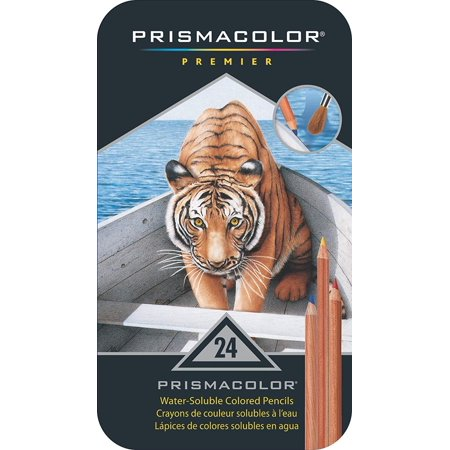 Core 3 Pair Pack - Prismacolor Premier Water-Soluble Colored Pencils, 24 Pack, Pair with a brush and the water-soluble cores help you sketch flowing liquids and create.., By MACPHERSONS