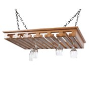 laurel highlands woodshop hanging wine glass rack - Hanging Wine Glass Rack