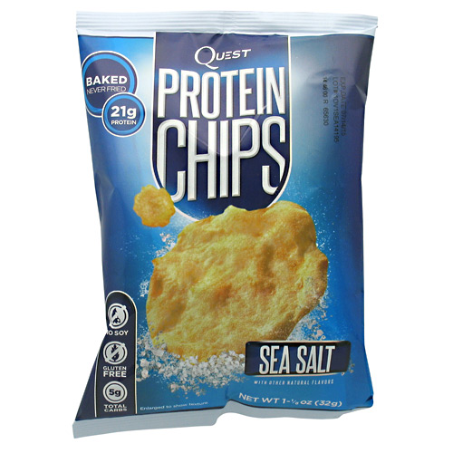 Quest Nutrition Protein Chips, Sea Salt, 21g Protein, Baked, 1.2oz Bag, 8 Count