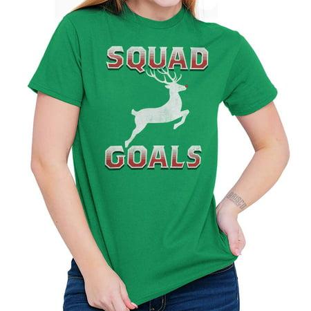 Cute Christmas Squad Goals Xmas Bar Crawl T Shirt - Bar Crawl Ideas