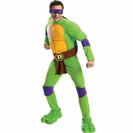Teenage Mutant Ninja Turtles Deluxe Donatello Adult Halloween Costume - Mens Turtle Costume