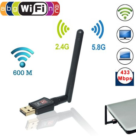 EEEKit 2.4GHz 150Mbps Mini Wireless Dual Band WIFI USB Adapter w/ Antenna Network Dongle for PC l aptop