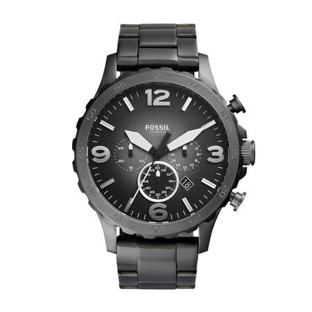 Men's Nate Chronograph Smoke Stainless Steel Watch (Style: JR1437)