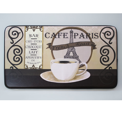 Chef Gear Cafᅢᄅ Paris Faux Leather Anti-Fatigue Cushioned Chef Mat