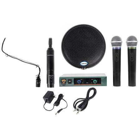 Piano Microphone System - Samson Church Sound System Package w/Choir Microphone+Stage Piano+Handheld Mics