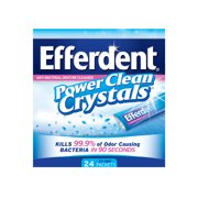 Efferdent Denture Power Clean Crystals, Icy Mint Tablets, 24 Ct