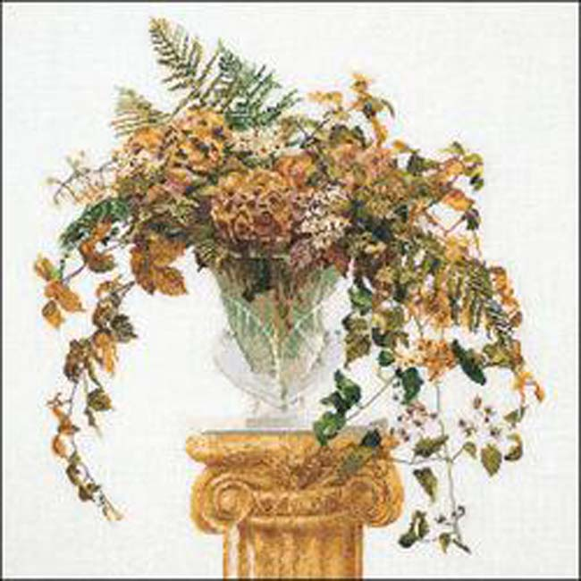 """Thea Gouverneur Counted Cross Stitch Kit 20.75""""X22""""-Autumn On Aida (16 Count)"""