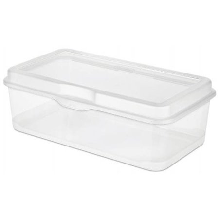 6 Pack) Sterilite 18058606 Plastic FlipTop Latching Storage Box Container Clear - image 3 of 4