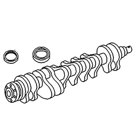 ZZ90091 Splined Nose Lip Seal Crankshaft For Massey