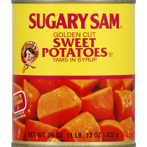Sugary Sam Cut Yams Sweet Potatoes In Sy