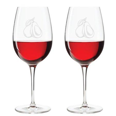 - Abby Smith - Engraved Wine Glass 18oz - Avocado (Set of 4)