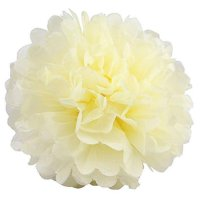 Efavormart 12 PCS Paper Tissue Wedding Birthday Party Banquet Event Festival Paper Flower Pom Pom Silver 14 inch